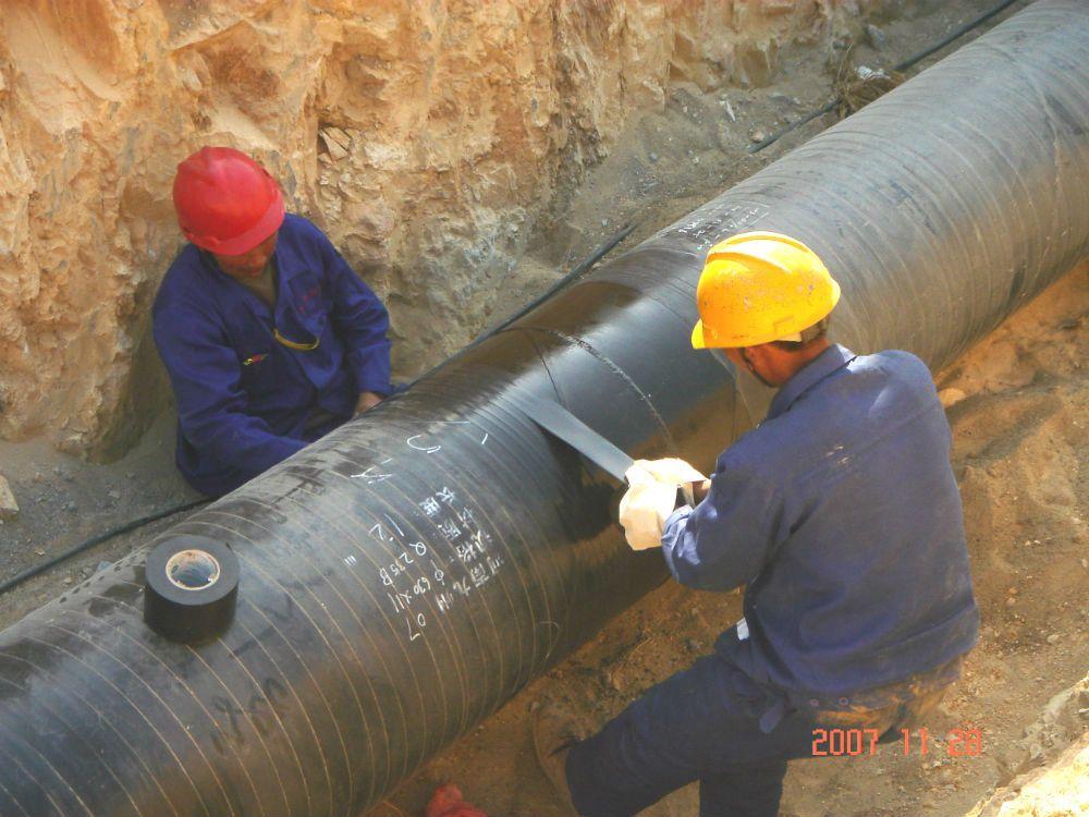 聚乙烯防腐胶带施工现场
